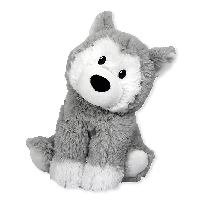 Alternate image 1 for Warmies® Husky Microwaveable Lavender Plush Toy in Grey