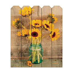 Courtside Market™ Country Sunflowers 9-Inch x 12-Inch Wood Picket Wall Art