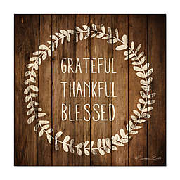Courtside Market™ Grateful, Thankful, Blessed 12-Inch Square Wood Wall Art