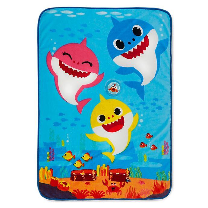 Alternate image 1 for Baby Shark Press n Play Musical Toddler Blanket