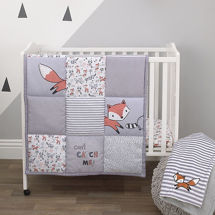 Alternate image 1 for Little Love by NoJo® Lil Fox 3-Piece Mini Crib Bedding Set