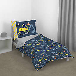carter's® Construction Time 4-Piece Toddler Bedding Set in Navy