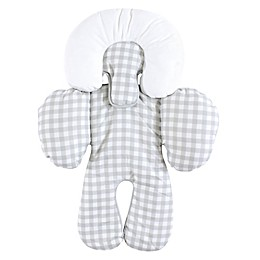 Hudson Baby® Infant Car Seat Head and Body Support in Grey Gingham