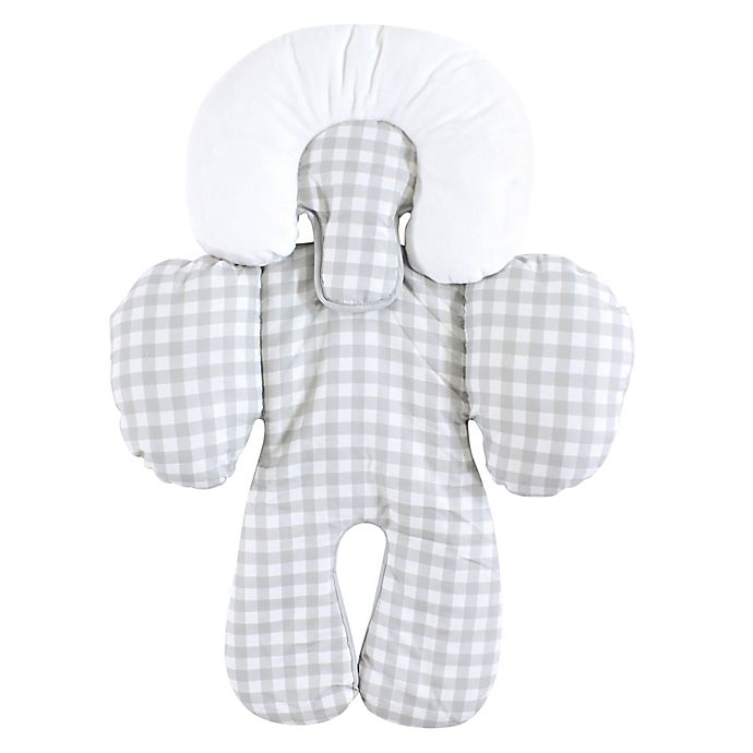 Alternate image 1 for Hudson Baby® Infant Car Seat Head and Body Support in Grey Gingham
