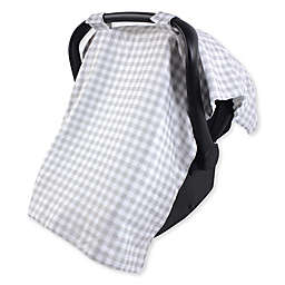 Hudson Baby® Car Seat Canopy in Grey Gingham