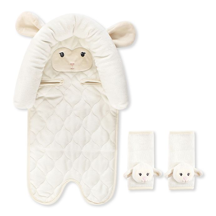 Alternate image 1 for Hudson Baby® Car Seat Insert and Strap Covers in Lamb