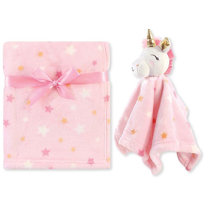 Alternate image 1 for Luvable Friends® Unicorn Plush Security Blanket Set