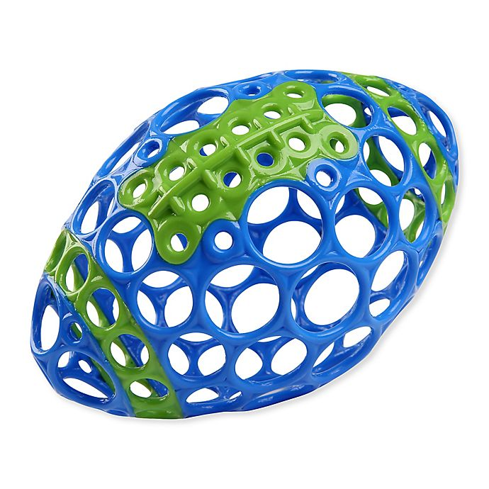 Alternate image 1 for Bright Starts™ Grasp & Play Football™ Easy-Grasp Toy in Blue/Green