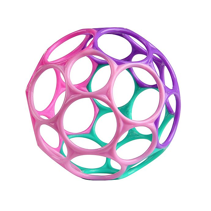 Alternate image 1 for Bright Starts™ Oball Classic™ Easy-Grasp Toy in Pink/Purple