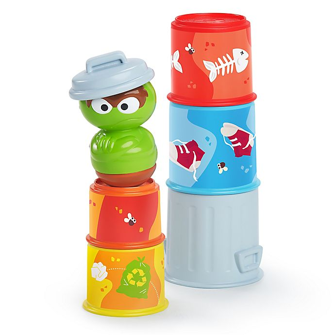 Alternate image 1 for Bright Starts™ Oscar the Grouch's Stacking Cans™ Stackable Cups