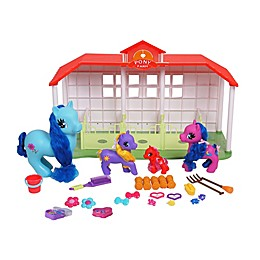 Gi-Go Toy Wonder Pony Land 45-Piece Mega Horse Ranch Set