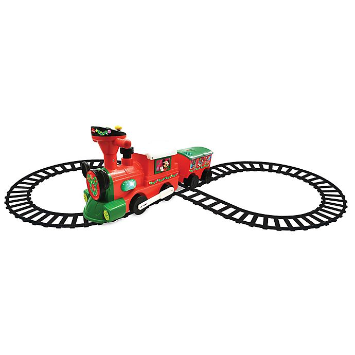 Alternate image 1 for Disney® Mickey and Minnie Mouse Christmas Train Ride-On