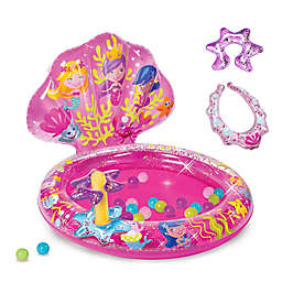 Banzai Mermaid Sparkle Inflatable Ball Pit