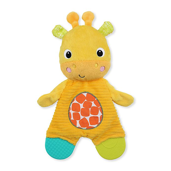 Alternate image 1 for Bright Starts™ Snuggle & Teethe™ Plush Giraffe Teether