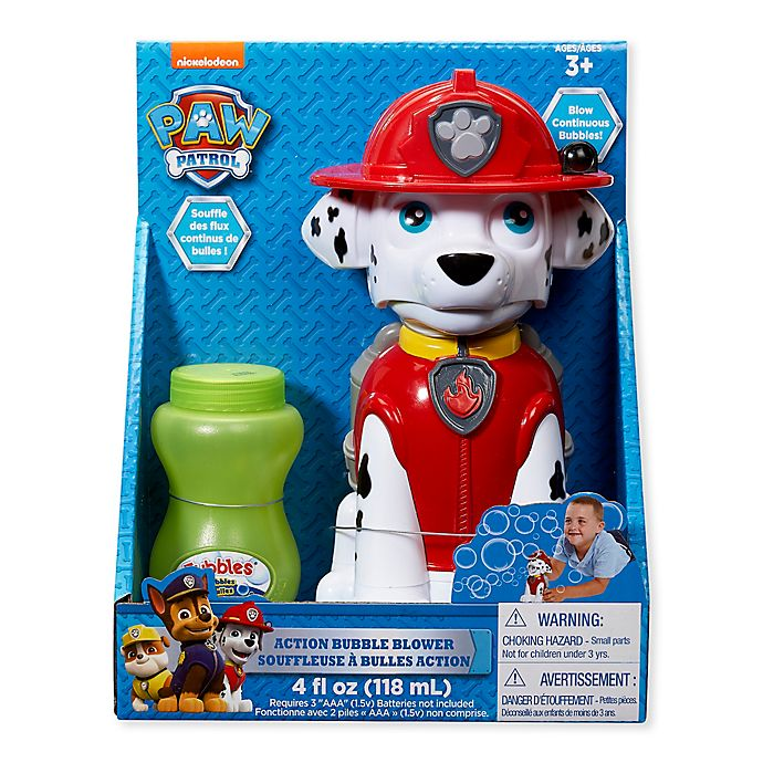 Alternate image 1 for Paw Patrol Best Pup Pals Marshall Action Bubble Blower