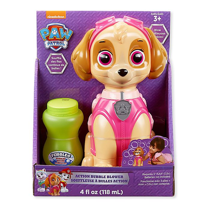 Alternate image 1 for Paw Patrol Best Pup Pals Skye Action Bubble Blower