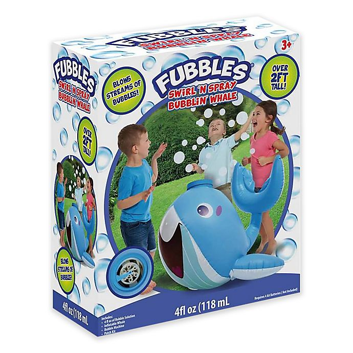 Alternate image 1 for Fubbles® Swirl 'N Spray Bubblin' Whale