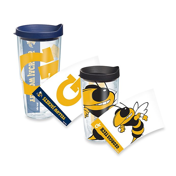 Alternate image 1 for Tervis® Georgia Tech Yellow Jackets Wrap Tumbler with Blue Lid