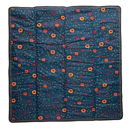 Little Unicorn Midnight Poppy Blanket in Blue/Red