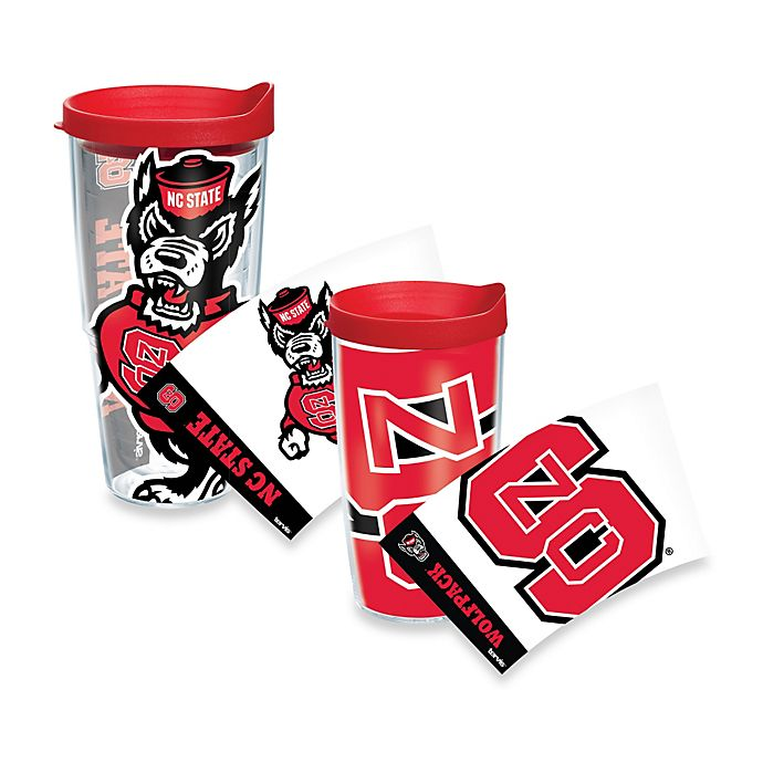 Alternate image 1 for Tervis® North Carolina State University Wolfpack Wrap Tumbler with Red Lid