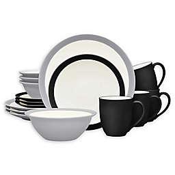 Noritake® Colorwave Curve 16-Piece Dinnerware Set in Slate/Graphite