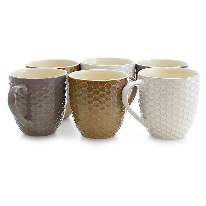 Alternate image 1 for Elama Dropletts Multicolor Mugs (Set of 6)