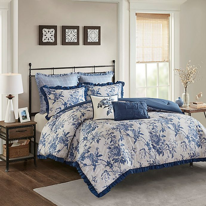 MADISON 2D Retro Floral Printed New Duvet Cover and Pillow Case