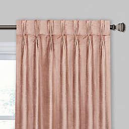Velvet Pinch Pleat/Back Tab Window Curtain Panel