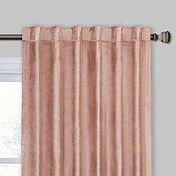 Velvet Rod Pocket/Back Tab Window Curtain Panel (Single)