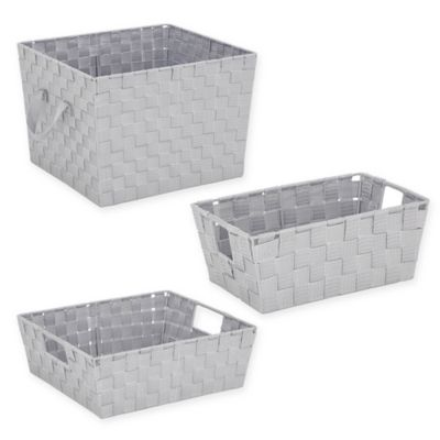 Org Woven Storage Tote In Light Grey Bed Bath Amp Beyond
