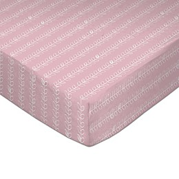 Lolli Living™ by Living Textiles Pink Vines Fitted Crib Sheet