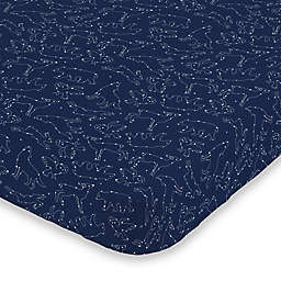 NoJo® Cosmic Constellations Fitted Crib Sheet in Navy