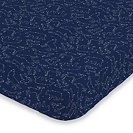 NoJo® Cosmic Constellations Mini Fitted Crib Sheet in Navy
