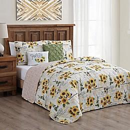 Yara Sunflower 5-Piece Reversible Quilt Set