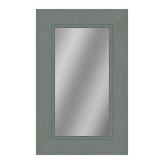 Alternate image 1 for PTM Images Borealus 28.5-Inc x 40.5-Inch Framed Wall Mirror in Grey/Green