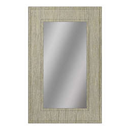 PTM Images Borealus 28.5-Inc x 40.5-Inch Framed Wall Mirror in Grey/Yellow