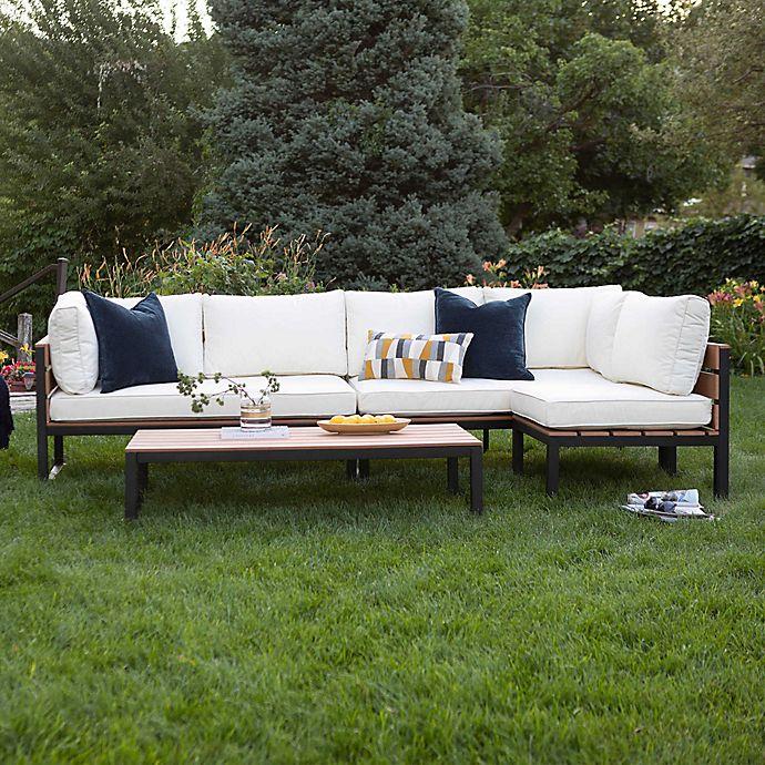 Alternate image 1 for Forest Gate Modern 4-Piece Outdoor Patio Conversation Set