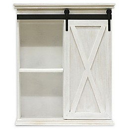 Bee & Willow™ Home Farmhouse Sliding Door Shelf Unit in White Wash
