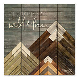 Courtside Market™ Wild & Free 12-Inch Square Wood Wall Art