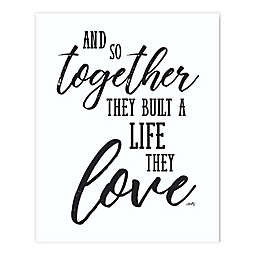 Courtside Market Together with Love 30-Inch x 40-Inch Canvas Wall Art