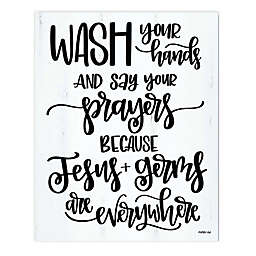 Courtside Market® Wash Your Hands 30-Inch x 40-Inch Canvas Wall Art