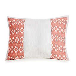 Jessica Simpson Lago Standard Pillow Sham in Coral