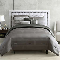 Tristian Jacquard 9-Piece Full/Queen Comforter Set in Grey
