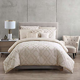 Tiago Jacquard 9-Piece Full/Queen Comforter Set in Champagne