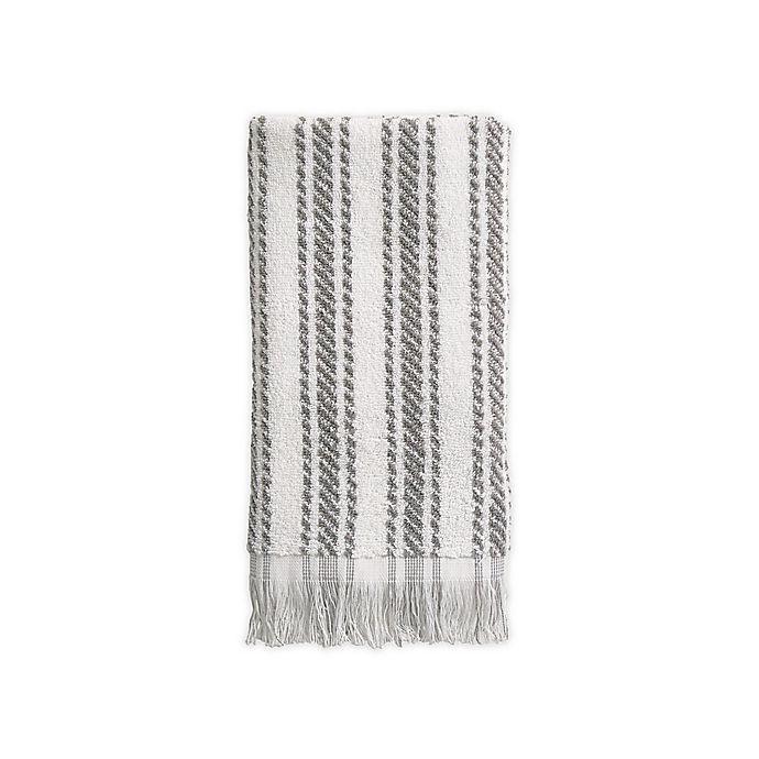 Alternate image 1 for Bee & Willow™ Home Tilden Stripe Hand Towel in Grey