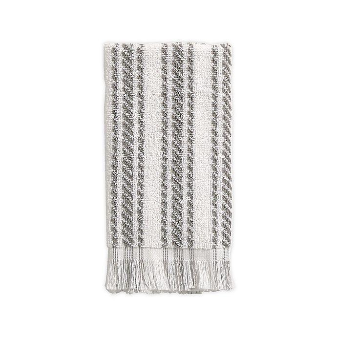 Alternate image 1 for Bee & Willow™ Home Tilden Stripe Tip Towel in Grey