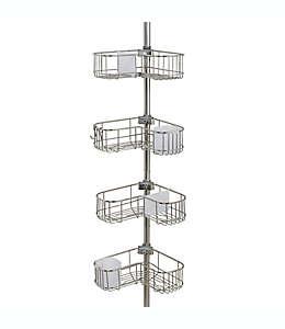 Esquinero de 4 niveles ORG NeverRust® en forma de L para baño en acero inoxidable