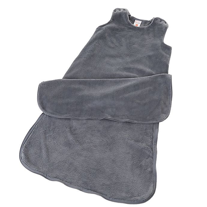 Alternate image 1 for Gunamuna Classic Dreams Gunapod Wearable Fleece Blanket in Charcoal