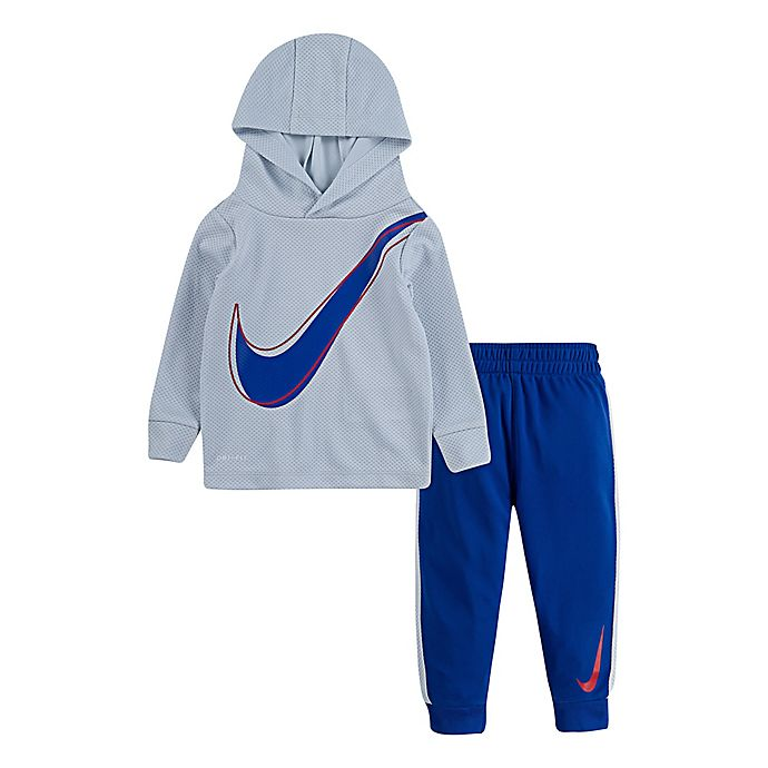 Alternate image 1 for Nike® 2-Piece Dri-Fit Toddler Hoodie and Jogger Set in Game Royal