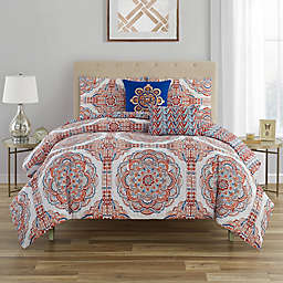 C. Wonder Mariola 5-Piece Reversible Full/Queen Comforter Set in Coral